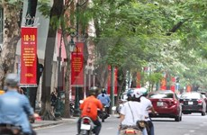 Hanoi decorated for Liberation Day celebration