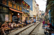 Coffee shops on Hanoi's train street shut down