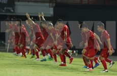 Vietnam on training prior to match with Indonesia