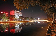 Hai Duong city sparkling at night