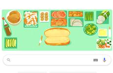 """Google Doodles honours Vietnam's """"Banh mi"""""""