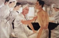 Painting featuring doctors' perseverance appreciated