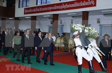 Gov't leader attends state funeral of former Lao PM