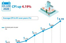 CPI up 4.19 percent in first half
