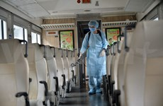 Trains disinfected to prevent coronavirus