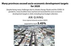 Many provinces exceed socio-economic development targets for 2020