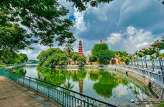 Hanoi relic sites during social distancing