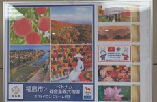 Fukushima issues stamp sets to welcome Vietnam's Olympic delegation
