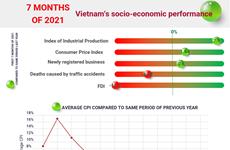 (interactive) Vietnam's socio-economic performance in seven months of 2021