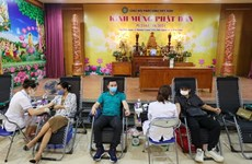 Blood donation drive launched in Quan Su Pagoda