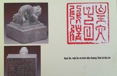 Nguyen Dynasty documents on display