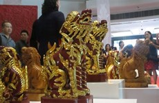 Sacred Vietnam sculptures showcased in Hanoi