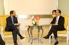 President meets leaders of Italian parties