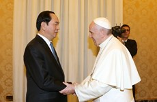 Pope Francis welcomes Vietnamese leader's visit to Vatican