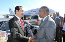 President arrives in Madagascar for 16th Francophone Summit