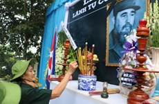 Ben Tre's people commemorate Cuban leader Fidel Castro