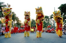HCM City hosts dragon, lion dance contest during weekends
