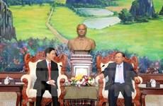 Lao leader lauds cooperation in popularisation work with Vietnam