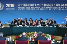 Mekong countries vow to strengthen law enforcement cooperation