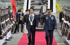 Japanese Prime Minister Shinzo Abe visits Philippines