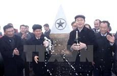 President attends flag hoisting ceremony on Fansipan peak