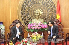 Cambodian officials extend New Year greetings to Long An