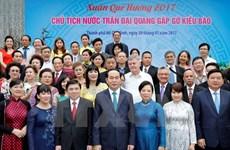 President Tran Dai Quang praises overseas Vietnamese's contributions