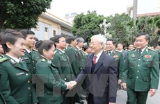 Party chief lauds border guard force's efforts