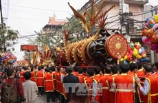 Dong Ky firecracker procession festival kicks off