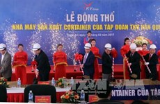 Work on container factory starts in Nghe An