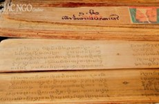 "Khmer writing on ""buong"" leaf gets national intangible heritage status"