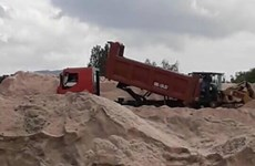 Binh Thuan cracks down on illegal sand mining