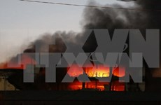 Massive blaze destroys Taiwanese garment factory in Can Tho