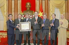 President receives Overseas Vietnamese, Buddhists from Thailand