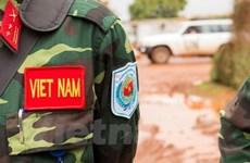 Vietnamese peacekeepers receive training