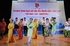Lao, Cambodian students in Vietnam enjoy traditional festivals