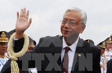Myanmar President begins visit to China