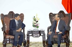 Gov't leader hosts new Myanmar ambassador