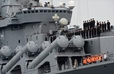Russian naval ships call at Cam Ranh Port