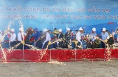 Wind power plant built in Ninh Thuan