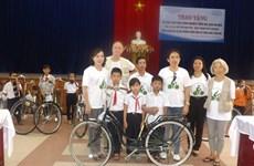 Japan-Vietnam Friendship Association donates bicycles to poor kids