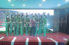 Vietnamese army art troupe performs in Russia