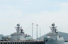 China's naval fleet visits Ho Chi Minh City