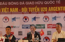 Vietnam U20 team eager for friendly match with Argentina