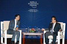 PM receives WEF, AIIB, Cisco leaders