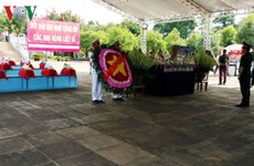 Burial services for soldier remains repatriated from Cambodia