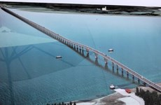 Southeast Asia's longest cross-sea bridge close to completion
