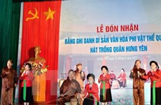 Hung Yen: Trong quan singing named national intangible cultural heritage
