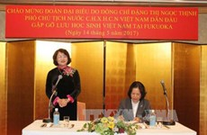 Vice President meets Vietnamese students in Fukuoka