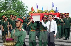 Ha Tinh reburies Vietnamese martyrs repatriated from Laos